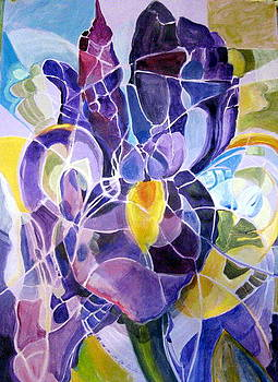 Purple Irises by Therese AbouNader