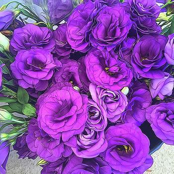 Cindy Boyd - Purple Lisianthus Flowers