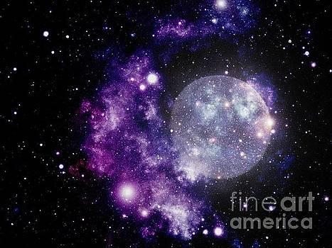 Purple Nebula by Kelly Awad