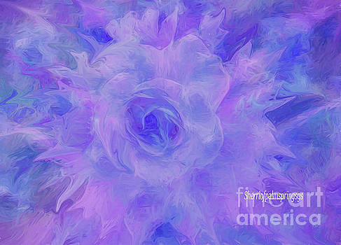 Purple Passion by Sherriofpalmspringsflower art-digital painting  photography enhancements tradition by Sherri Of Palm Springs
