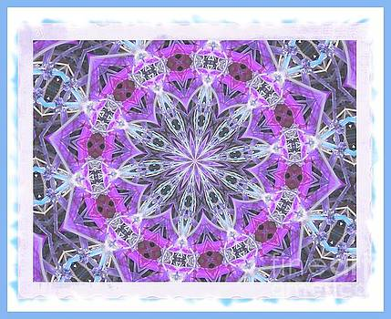 Purple Pink Snowflake by Shirley Moravec