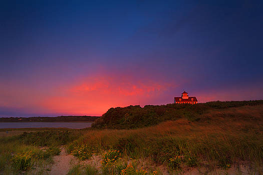 Purple Sky Over Coast Guard Eastham by Dapixara Art