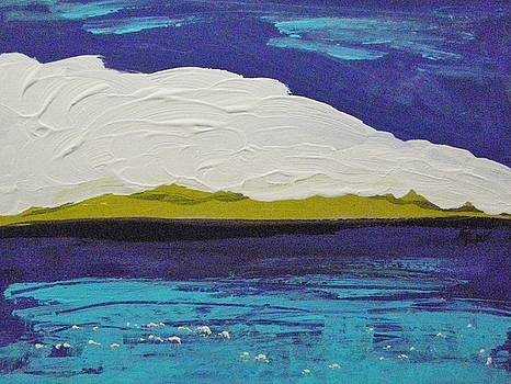 Purple Sky-White Cloud by Mary Carol Williams