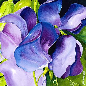 Purple Sweet Peas by Janis Grau