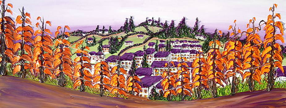 Purple Tuscany 8 by Portland Art Creations