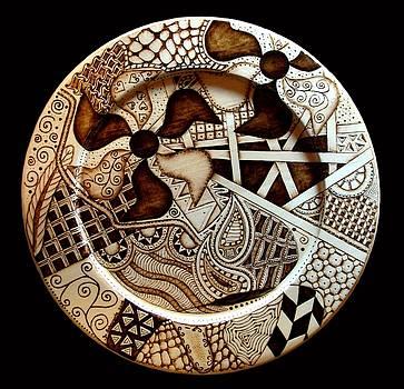 Pyro-Tangle Plate by Jo Schwartz