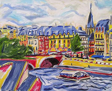 Quai des Grands Augustins by Nancy Rourke