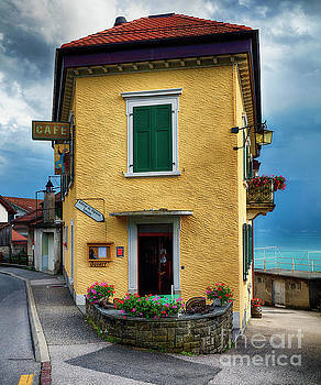 Quaint French Restaurant Building at Lake Geneva by George Oze