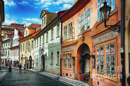 Quaint Misenska Street in Prague by George Oze