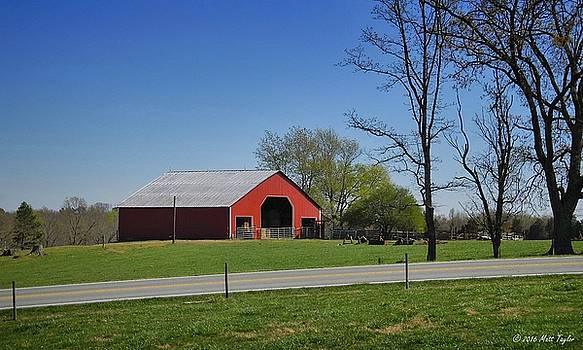 Quaint Red Barn by Matt Taylor