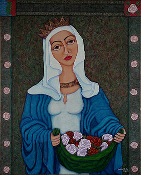Madalena Lobao-Tello - Queen St Isabel - The miracle of the roses