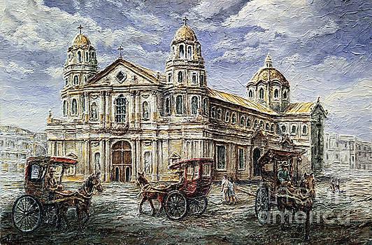 Quiapo Church 1900s by Joey Agbayani