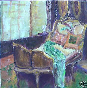 Quiet Moment - Vibrant still life painting by Virgilla Lammons