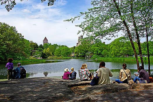 Quiet Moment in Central Park by Zalman Latzkovich