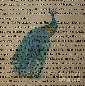Quiet Peacock by Carol Fielding