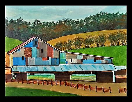 Quilted Barn 1 by Jim Harris