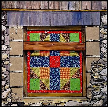 Quilted Basement Window by Jim Harris