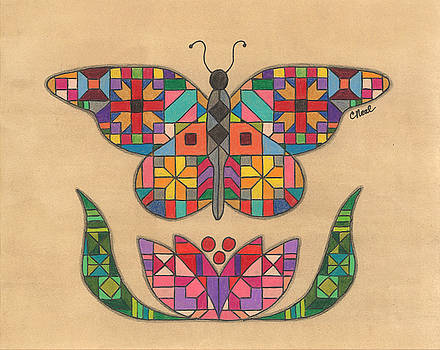 Quilted Butterfly by Carol Neal
