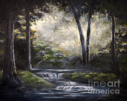 Quite Forest Stream by Angelina Cornidez