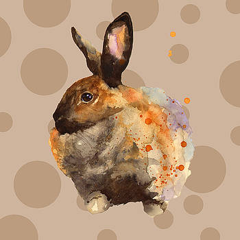 Rabbit Painting by Alison Fennell