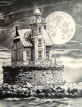 Race Rock Light House by Michael Lee Summers