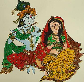 Radha Krishna by Saran A N