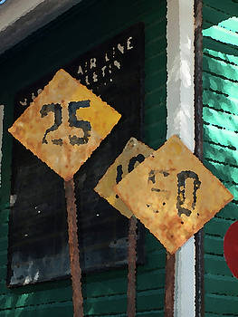 Rail Road Signs by Randy Sylvia