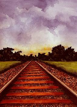 Railroad Tracks - Color by Michael Vigliotti