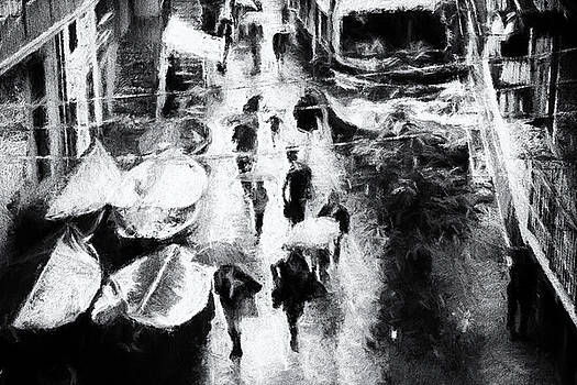 Rain in the fishing village by Frank Andree