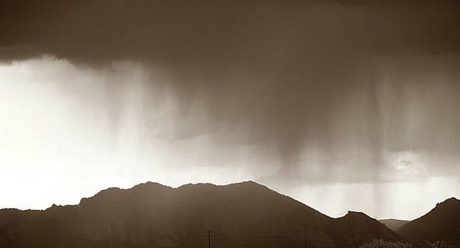 Rain Over Flatirons by Marilyn Hunt