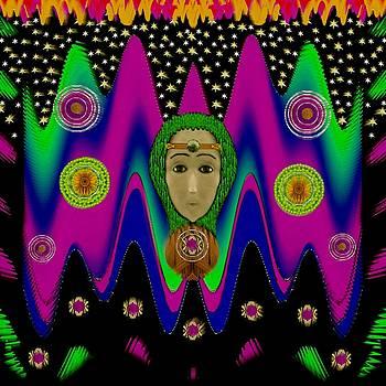 Rainbow Bohemian Peace Girl by Pepita Selles