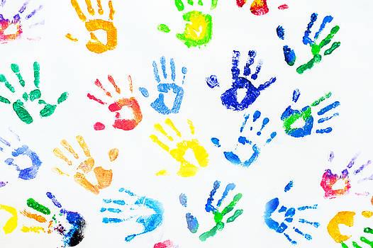 Jenny Rainbow - Rainbow Colors Arm Prints Abstract
