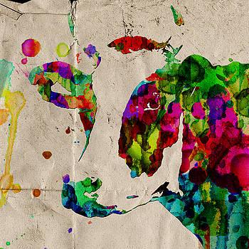 Rainbow Cow Print Poster by Robert R Splashy Art Abstract Paintings