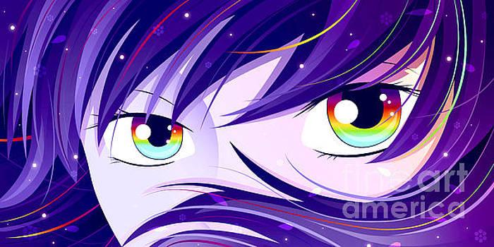 Rainbow eyes by Sandra Hoefer