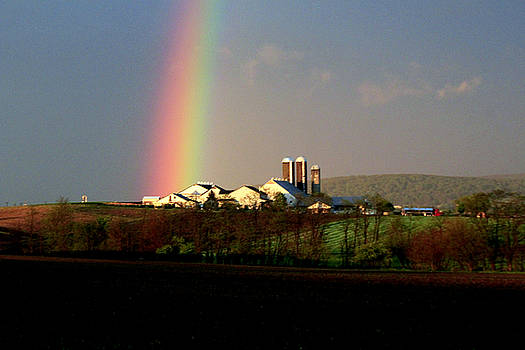 Rainbow in Lancaster Pennsylvania by Doug Hoover