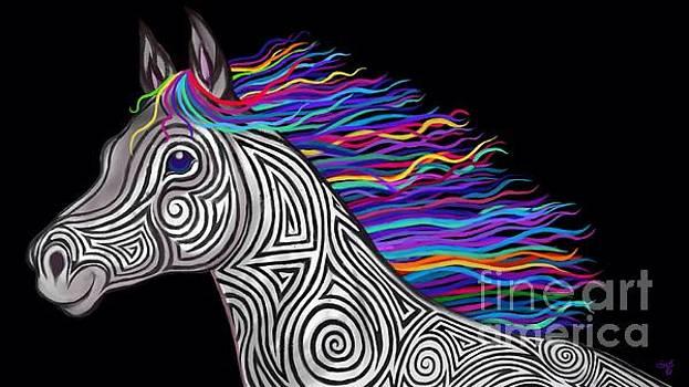 Nick Gustafson - Rainbow Mane Mustang