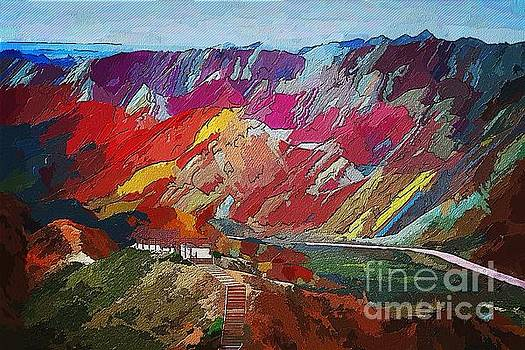 Rainbow-mountains by Max Cooper