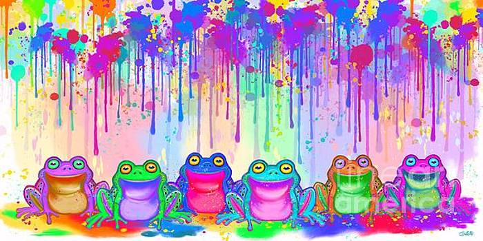 Nick Gustafson - Rainbow of Painted Frogs