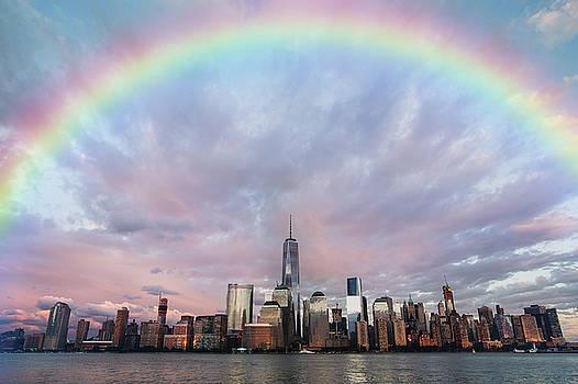 Rainbow Over Manhattan by Ericamaxine Price