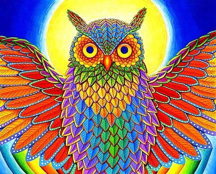 Rainbow Owl by Rebecca Wang