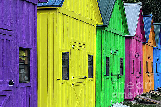Rainbow Shacks by John Greim