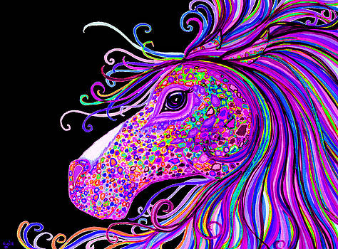 Nick Gustafson - Rainbow Spotted Horse Head 2