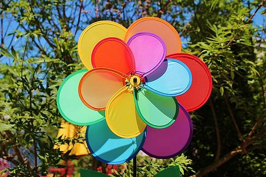 Rainbow Wind Spinner by Cynthia Guinn