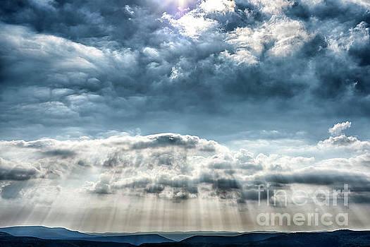 Raining Light Rays  by Thomas R Fletcher