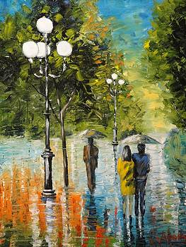 Rainy Day in the Park by Charles Vaughn
