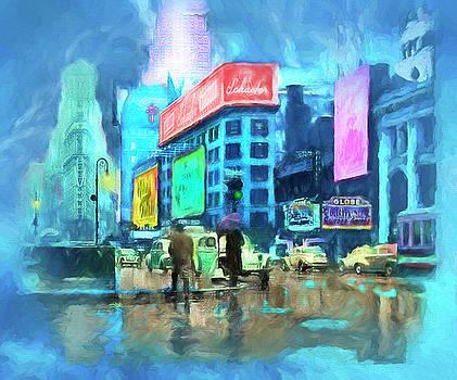 Rainy Night In New York by Michael Cleere