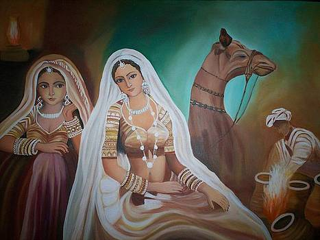 Rajasthani Beauties by Usha Rai