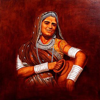Rajasthani Lady by Pawan