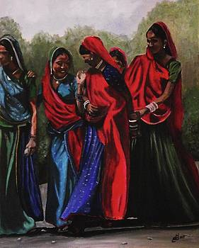 Rajasthani Village Women by Kim Selig