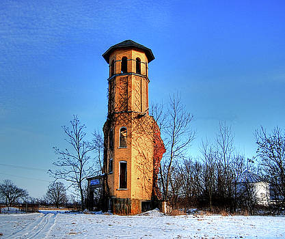 Raleigh School Tower Ruins by Mark Orr